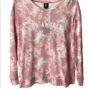 "Tie Dye Pink ""Los Angeles"" Pullover LS 1XL"